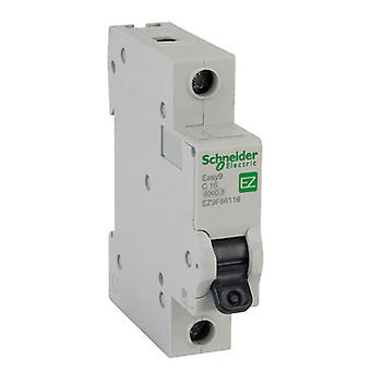 Schneider Electric EZ9F66116 EASY9 16A 1 Pole Type C Miniature Circuit Breaker