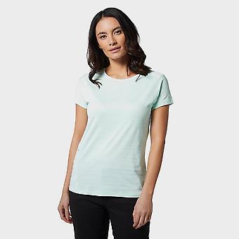 New Mountain Hardwear Women's Mighty Stripe Short Sleeve T-Shirt Green