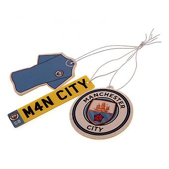 Manchester City FC Air Fresheners (Pack Of 3)