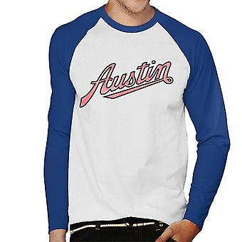 Austin Vintage Logo British Motor Heritage Men's Baseball Long Sleeved T-Shirt