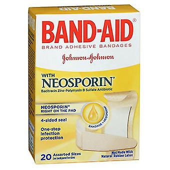 Band-Aid Antibiotic Adhesive Bandages Assorted Size, 20 each