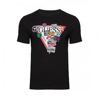 Arvaa Overlay Logo Crew Neck Musta T-paita M0BI70I3Z00