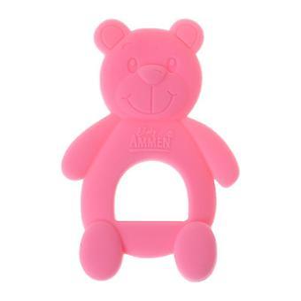 Baby Teether Bear, söt halsband Teething Massage smärtlindring Napp