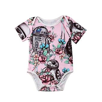 Summer Cute Newborn Baby Clothes Bodysuit Short Sleeve Cotton Outfits Clothes