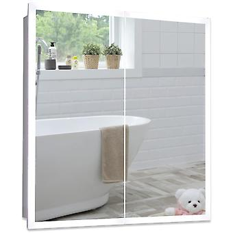 LED Bathroom Mirror Cabinet 70cm(H) x 65cm(W) x 15cm(D)  C27