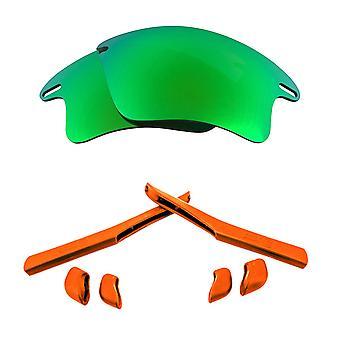 الاستقطاب استبدال العدسات عدة ل Oakley سريع سترة XL مرآة خضراء الأحمر المضادة للخدش UV400 المضادة للوهج من قبل SeekOptics