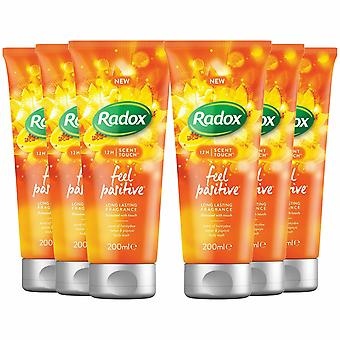 Radox Body Wash, Feel Positive, 200ml - Buy 6