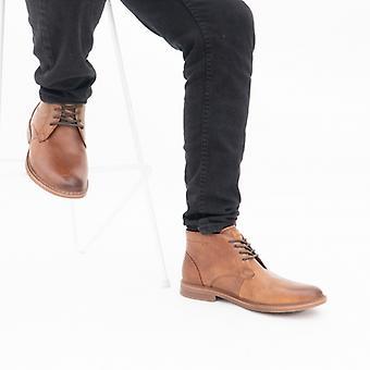 Skechers Bregman كالسن Mens جلد الكاحل أحذية كونياك