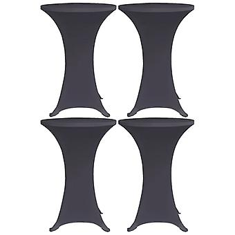 Stretch table husses 4 pcs. 60 cm anthracite