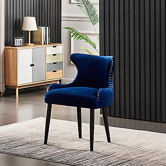 Oliver Lux Velvet Dining Chair Royal Blue