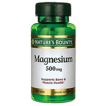 Nature's bounty magnesium, 500 mg, tablets, 100 ea