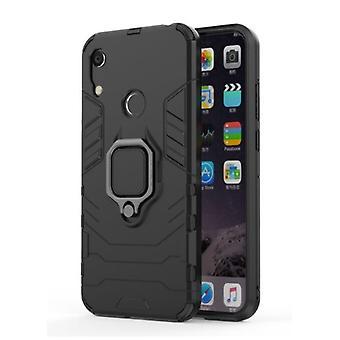 Keysion Huawei Honor 8A -kotelo - Magneettisen iskunkestävä kotelon kansi Cas TPU Musta + Jalusta