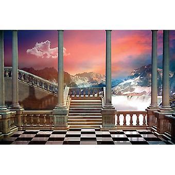 Tapeter Väggmålning Slott Balkong (46622081)