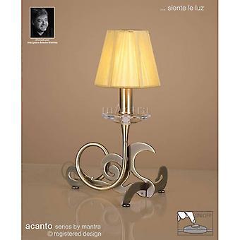 Acanto Tafellamp 1 Bulb E14, antiek messing met ambercrème