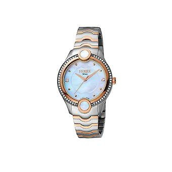 Ferre Milano FM1L082M0031 /rose gold watch/band with silver dial