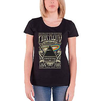 Pink Floyd T Shirt Carnegie Hall Poster new Official Womens Skinny Fit Black