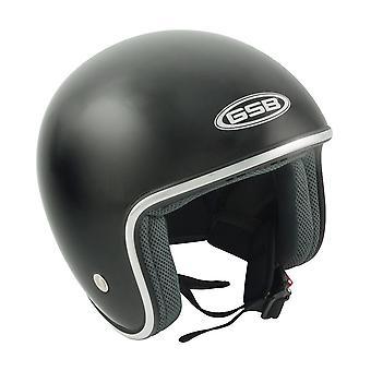 GSB G-234 Adulte Open Face Motorcycle Helmet Plain Black S-XL