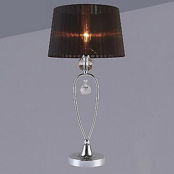 Italux Vivien - Table Lamp Black 1 Light with Material Shade, E14