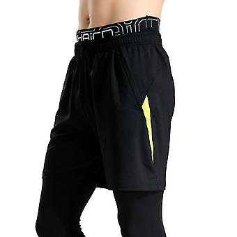 Men Shorts Calf-length Gyms Fitness Bodybuilding Casual Sporting Pants