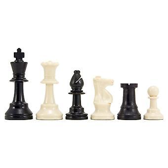 Kunststof toernooi Schaken stukken 3,75 inch