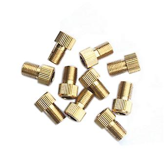 Gold 10PCS Copper and Rubber Valve for Road  Pump Accessories Bicycle  Adapter