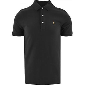 Farah Black Blanes Polo Shirt
