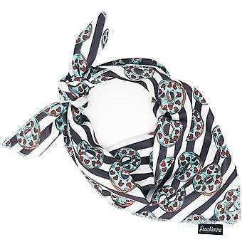 Frenchiestore HundKylning Bandana |  Frenchie Kärlek I Teal