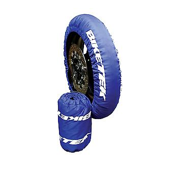 BikeTek Motorcycle Tyre Warmers UK 3-Pin Plug 120 70-17 Front 160 Rear Pair