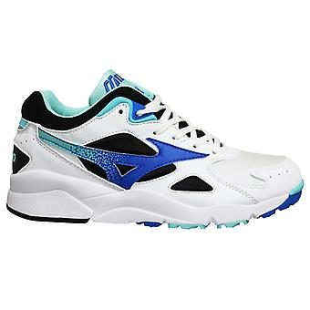 Mizuno Sport Style Sky Medal White Blue Lace Up Mens Running Trainers D1GA192425