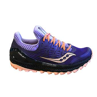 Saucony Xodus Iso 3 Purple Womens Trainers Lace Up Running Shoes S10449 37