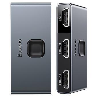 Hdmi bidirezionale Baseus - switch splitter HDMI 2x 4K / grigio 30 Hz