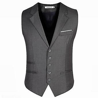 Dress Vests, Slim Fit Suit, Male Waistcoat, Casual Sleeveless Formal Business