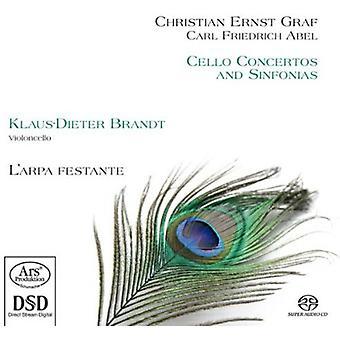 Graf / Abel / Brandt / Festante - concertos pour violoncelle & Sinphonia [SACD] USA import
