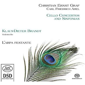 Graf / Abel / Brandt / Festante - Cello Concertos & Sinphonia [SACD] USA import