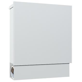 MOCAVI Box 600 brevlådevit (RAL 9003) med tidningsfack