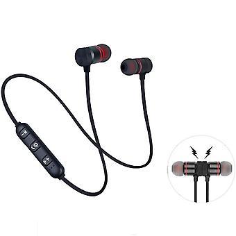 Draadloze Bluetooth-oortelefoon, handsfree nekband magnetische headset stereo sport