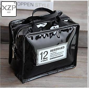 1pc Portable Pu Leather Waterproof Food Picnic Lunch Box Bag