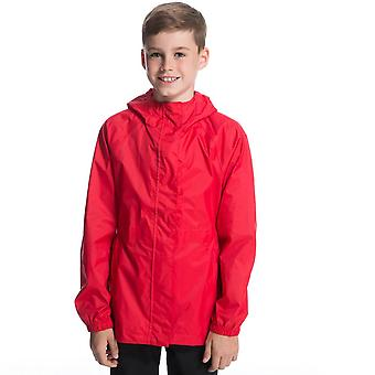 Nieuwe Peter Storm Kids parka-in-A-pack volledige mouw jas rood