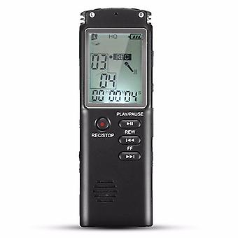 8GB Portabil REÎNCĂRCABIL LCD Digital Audio Voice Recorder Dictaphone Cu MP3 Play