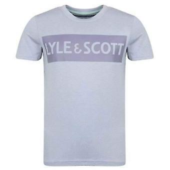Lyle & scott boys cloud blue logo t-shirt