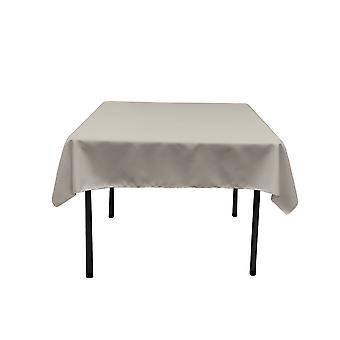 La Leinen Polyester Poplin Quadratische Tischdecke, 58 von 58-Zoll, hellgrau