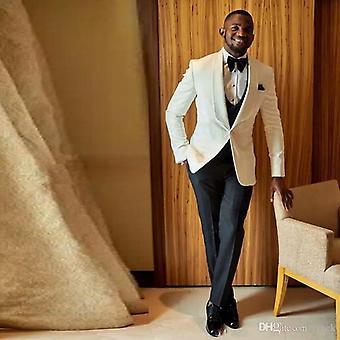 Düğmeli Tasarım Damat Erkek Takım Elbise