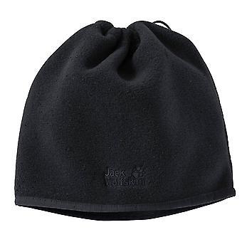 ג'ק וולפסקין אמן Ecosphere 2in1 לולאה צמר צווארון כובע סנוד שחור