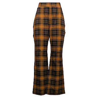 IMAN Global Chic Women's Pants 360 Slim Ponte Boot-Cut Brown 722-483