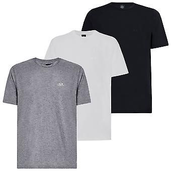 Oakley Mens 2021 Relaxte T-shirt geribbelde kraag platte naden crew nek T-shirt