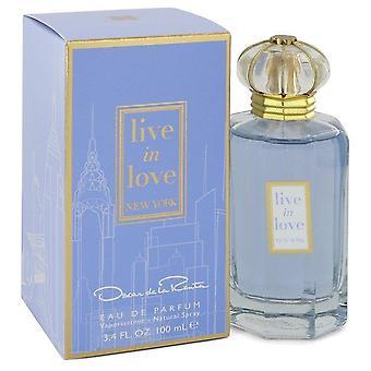 Vivre dans l'amour New York Eau De Parfum Spray par Oscar De La Renta 3.4 oz Eau De Parfum Spray