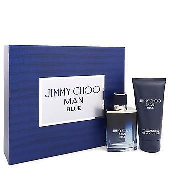 Jimmy Choo Man Blue Gift Set By Jimmy Choo 1.7 oz Eau De Toilette Spray + 3.3 oz Shower Gel