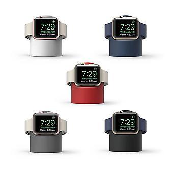 Holder til Apple Watch-natbord og pc-opladning til opladning af dock rundt silikone