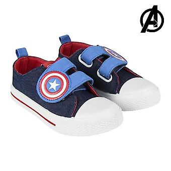 Children's casual trainers the avengers blue