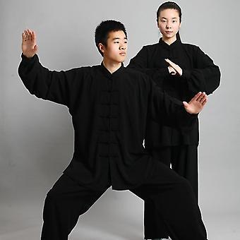 الملابس الصينية التقليدية، 14 لون طويل الأكمام ووشو تايتشي الرجال كونغفو